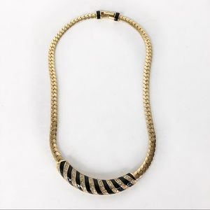 Jewelry - Gold and Black Retro Necklace